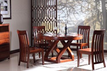 虎斑木餐台椅