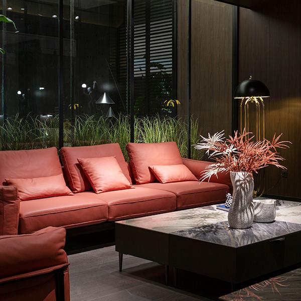 SF2160 雅宝真皮沙发 1+3+双扶单