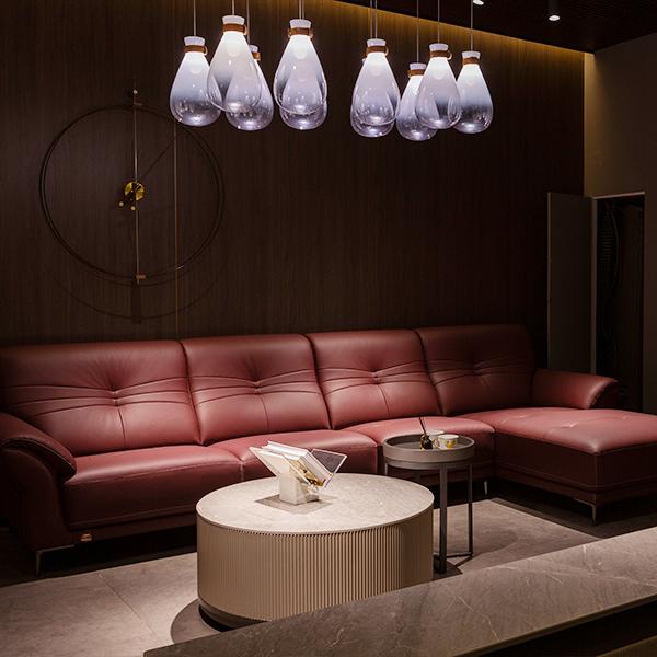 SF2187 雅宝真皮沙发 1+3+床