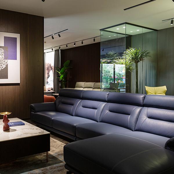 SF2188 雅宝真皮沙发 1+3+床